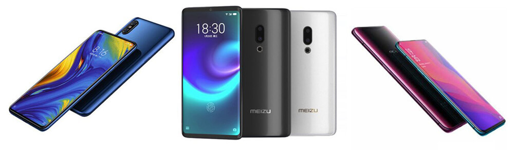 Xiaomi Mi Mix 3 Meizu Zero vs Oppo Find X