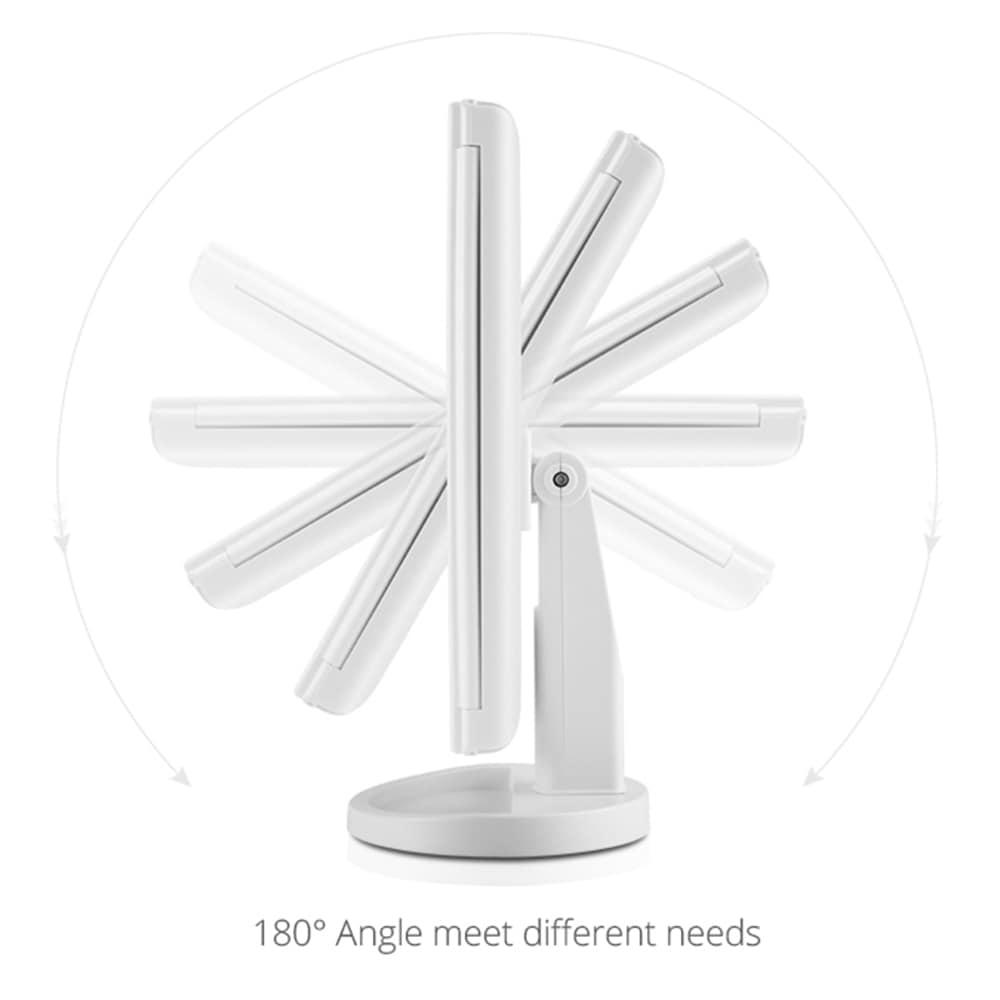 LED Light Touch Screen Makeup Mirror Desktop 3 pieghevole Ingrandimento 1X / 2X / 3X / 10X