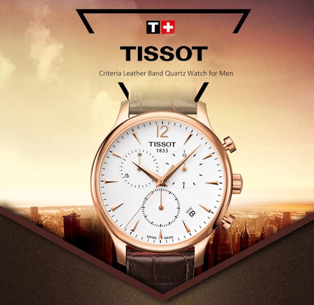 🔥TISSOT Classico elegante orologio al quarzo con cinturino in pelle per uomo