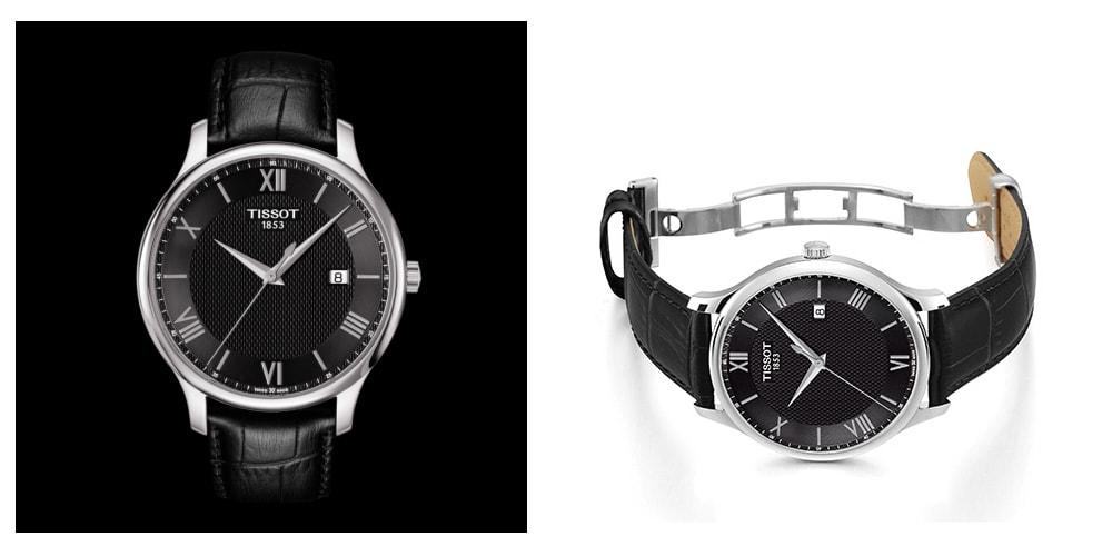 Orologio al quarzo classico TISSOT Business con cinturino in pelle per uomo