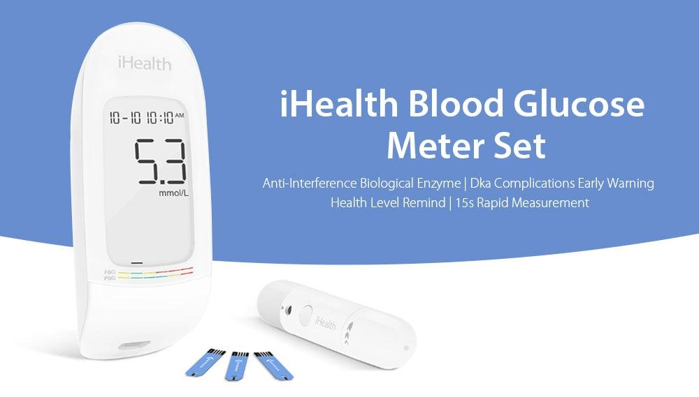 🔥iHealth AG – 607 Tester per glucosio ematico Set da Xiaomi youpin