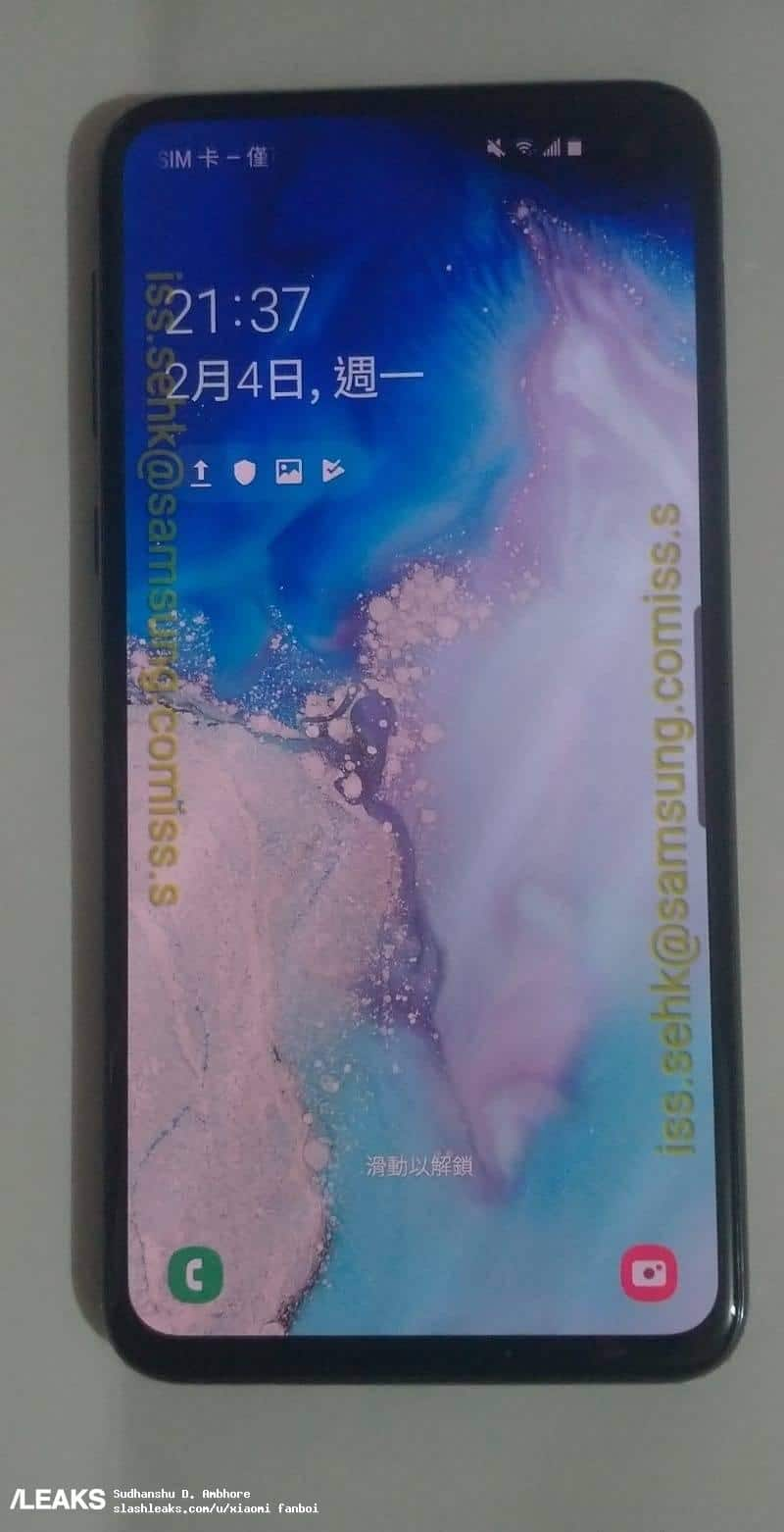 Galaxy S10e live photos shows Infinity-O display