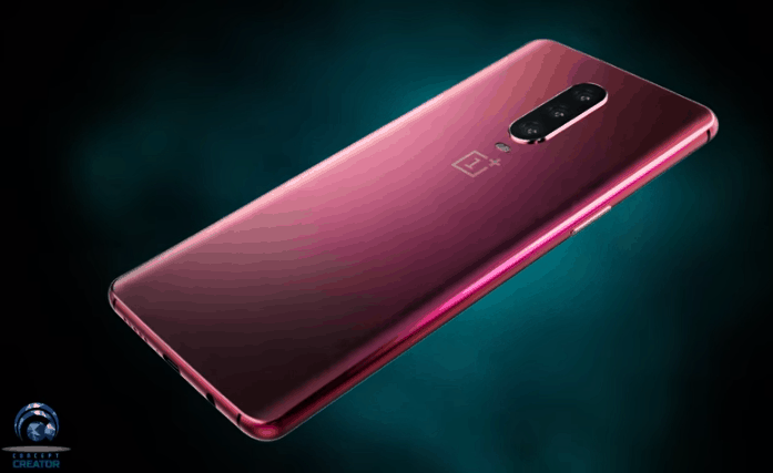 OnePlus 7 concept with punch-hole display and triple rear cameras appear