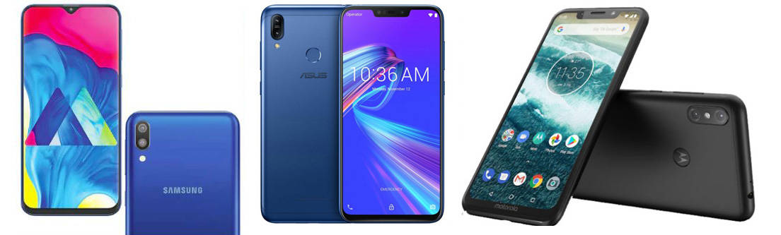Samsung Galaxy M20 vs Asus Zenfone Max Pro (M2) vs Motorola One Power: Specs Comparison