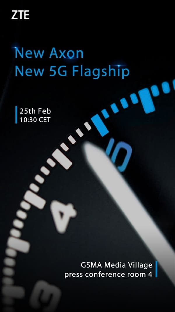 ZTE's 5G flagship phone come out on February 25