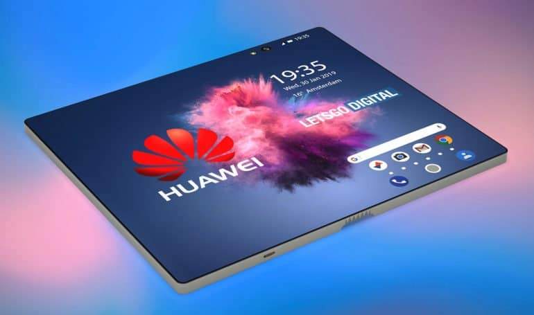 3D renders of the next Huawei 5G foldable phone