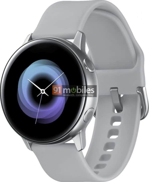 Render of Samsung Galaxy Sport smartwatch leaks showing the design