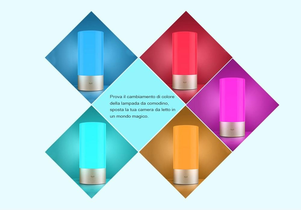 Xiaomi Mijia MJCTD01YL Yeelight Lampada da Comodino Controllo Bluetooth Connessione WiFi