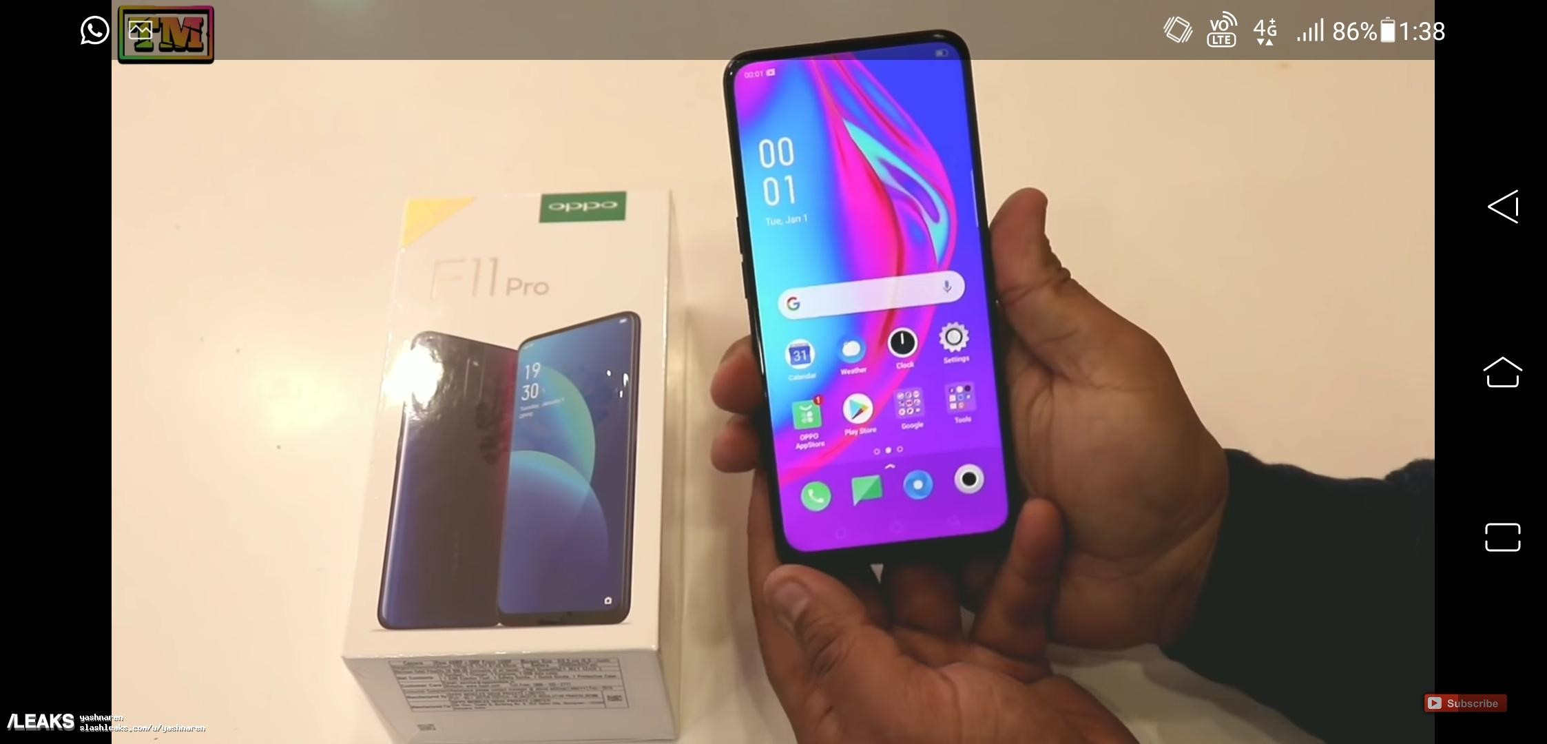 OPPO F11 Pro retail box surfaces and photos