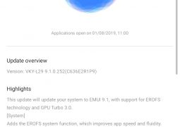 GPU Turbo 3.0 and EROFS file system unveiled in EMUI 9.1 update brings to the Huawei P10 Plus